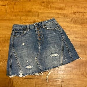 Free People We the Free jean denim a line skirt 26